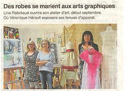 Boutique, Atelier, Article, Presse, Actualité, Art, Peinture, Mariage, Robe
