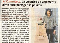 Boutique, Atelier, Article, Presse, Actualité, Inauguration, Mariage, Cholet