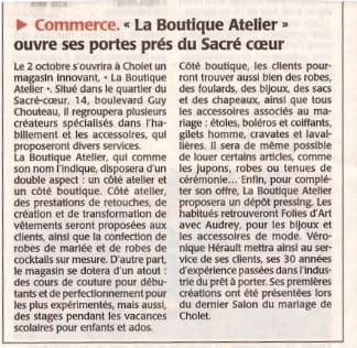 Boutique, Atelier, Ouvre, Portes, Sacré, Coeur, Cholet